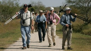 Birders at Laguna Atascosa National Wildlife Refuge in Texas, photo by Steve Hillebrand/U.S. Fish and Wildlife Service.