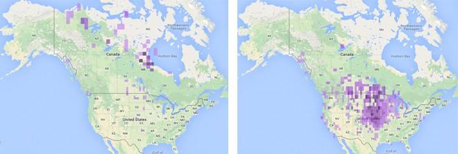 June 2004-14 (left); October 2004-14 (right)