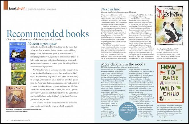Bookshelf, BirdWatching Magazine, December 2015, page 34-35.