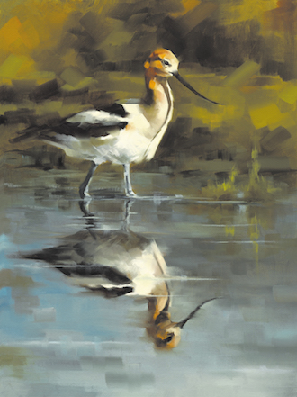 Birds in Art: Kathryn Ashcroft, Tranquility, 2016, oil on Belgian linen.