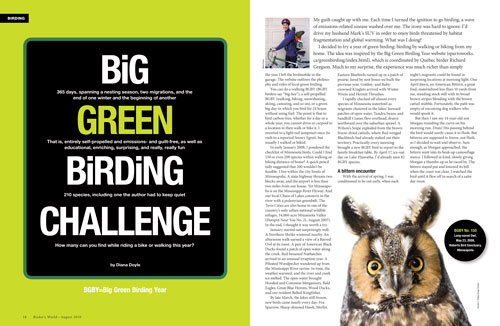 Big Green Birding Challenge