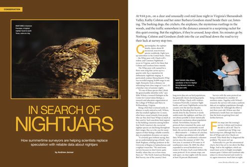In search of nightjars