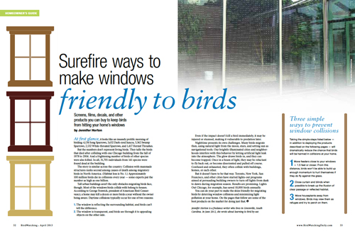 Prevent Birds From Hitting Windows With These Products BirdWatching - Window stickers to deter birds