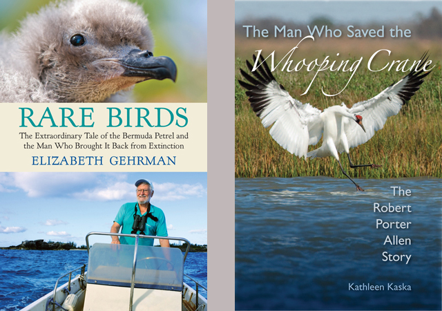 New books celebrate heroes for Bermuda Petrels, Whooping Cranes