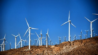 Wind farm in North Palm Springs, California, by Wendell (Creative Commons).