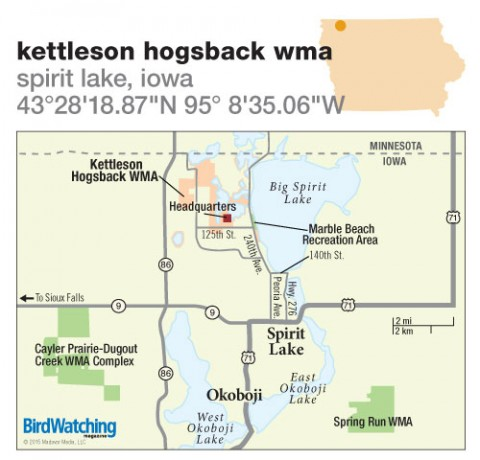 207. Kettleson Hogsback WMA, Spirit Lake, Iowa