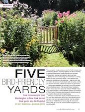 Five yards that birds love