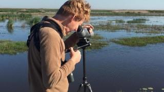 Big Year birder John Weigel on the Texas coast in early April 2016.