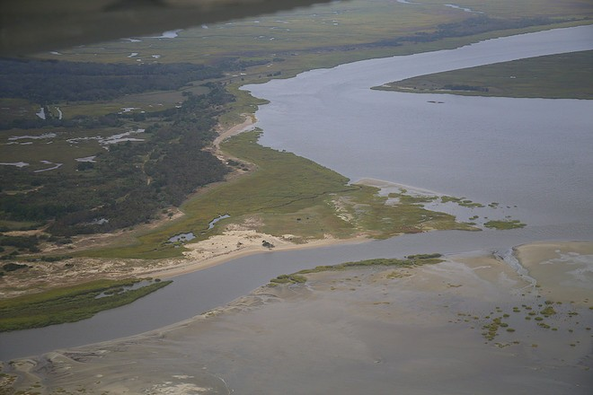 Georgia's barrier islands feature a mix of sand, mud, and salt marshes -- ideal habitats for shorebirds. Photo by Brad Winn