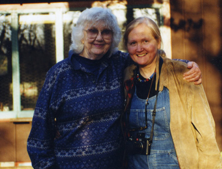 Lorrie Otto (left) with author Ney Tait Fraser