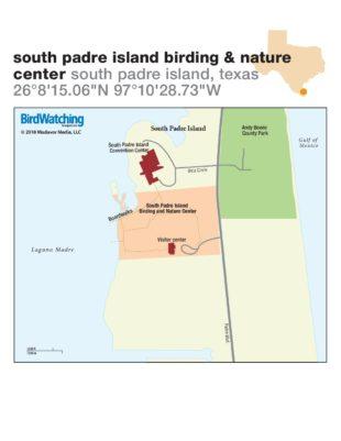 Map Of Texas Islands.South Padre Island Birding Nature Center Map Birdwatching