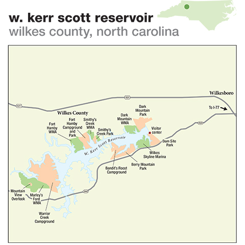284. W. Kerr Scott Reservoir, Wilkes County, North Carolina