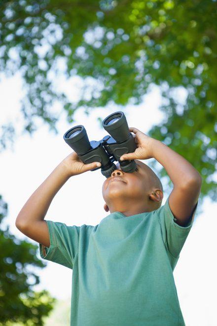 A child birding